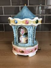 """Vintage Schmid Music Box Musical Moving Carousel """"Somewhere In Time� Japan"""