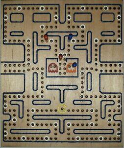 Vintage video game theme cribbage board