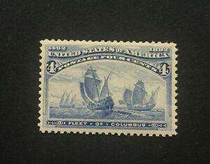 mystamps  US 233, 4 cent Columbus, 1893, MNH, OG, Grade 85