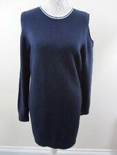 Dorothy Perkins NWOT jumper dress size 14 Navy with wht trim.Cold shoulder.