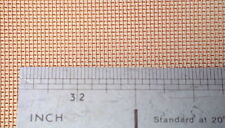 Phosphor Bronze Mesh 30 meshes per inch 200mm x 150mm UK see details