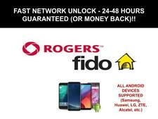 Rogers / Fido Unlock Code for Samsung, LG, ZTE,etc - Fast Service 24 - 48 Hours!
