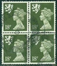 Great Britain Sg-S59, Scotland Scott # Smh-34 Block Of 4, Used, Great Price!