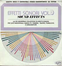 EFFETTI SONORI vol.9... LP 1974 library VEDETTE sealed