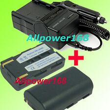 Battery + Charger For SB-LSM80 SAMSUNG SC-DC164 SCDC164 SC-DC173U DV Camcorder