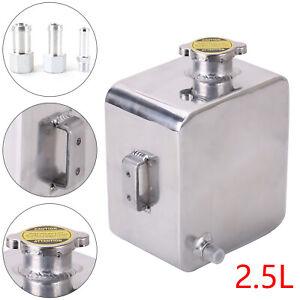 2.5Aluminium Alloy Water Coolant Bottle Header Overflow Universal Expansion Tank