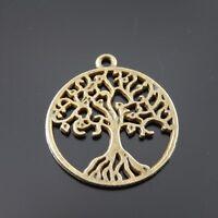 30pcs Antique Style Bronze Tone Full Of Life Tree Charm Pendant Finding 38027