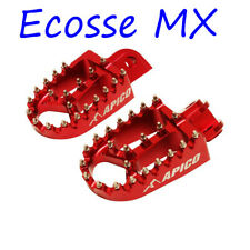 Honda CRF250R/X/RX RED 2004-2019 CRF450R/X/RX 2002-2019 Apico Wide Foot Pegs