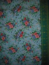Northcott Floral Bouquet on Blue Quilt Fabric - 1 yds