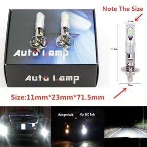 H1 6000K 55W Bright White 6000LM CSP LED Headlight Bulbs Kit High Low Beam DRL