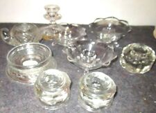 large estate lot of smaller glass candle holders and footed dishes