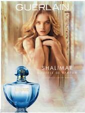PUBLICITE ADVERTISING 0105  2014  GUERLAIN souffle de parfum SHALIMAR