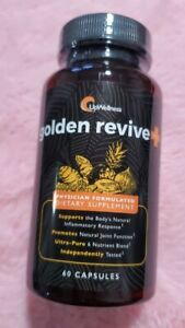 Golden revive plus, SEALED, 05/2023 exp 60 capsules inflammatory joint
