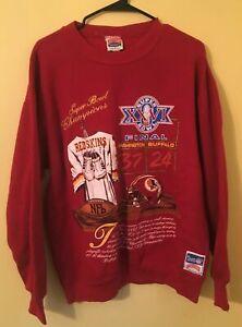 Vintage 90s Washington Redskins 1990s Sweatshirt Super Bowl Champions (Medium)