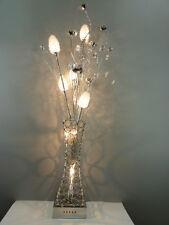 Stehleuchte Cleopatra 7 flg.  Alu-Drahtgeflecht Dekoration Lampe Blumenleuchte