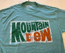 SAVVY Adult 2XL Mountain Dew Distressed Green Short Sleeve Tee T-Shirt NWOT
