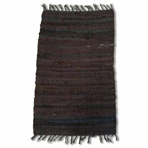 Cotton Chindi Black Tonal Rug Mat 50x80
