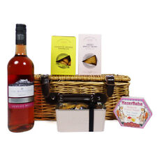 Luxury Sweet & Savoury Rose Wine Food Hamper - Gifts for Mothers Day & Birthday