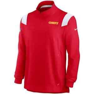 New 2021 NFL Kansas City Chiefs Nike Sideline Coaches Repel Quarter-Zip Jacket