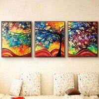 3Pcs/Set Baum Leinwand Bilder Wandbilder Wandbild Kunstdruck Bild Wand Dekor
