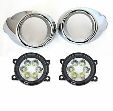 BRIGHT LED REPLACEMENT FOG LIGHT KIT FOR 2012-2014 FORD FOCUS: LED LAMPS, BEZELS