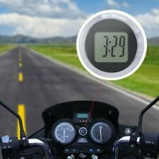 Mini Digital Clock Stick-On Watch For Car Vehicle Motorcycle Motorbike Bike New