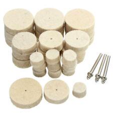 33Pcs Soft Felt Polishing Buffing Wheel Mixed Accessory for Rotary Tool N1B5