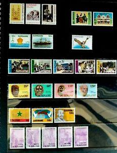 SURINAME COMPLETE 1984-88 MNH SETS (177 MNH STAMPS IN TOTAL) + ORIGINAL ALBUM