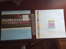 """Celebrating Our Family's Love Embellished 2-page 12"""" X 12"""" Scrapbook Layout"""
