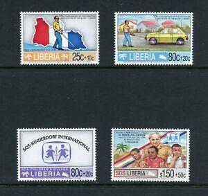 W766 Liberia 1995  charities,  blind,  children SHORT-SET  4v.   MNH