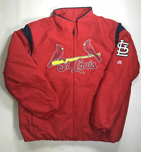 St. Louis Cardinals On Field Full Zip Therma Base Jacket Size Medium New