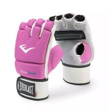 New In Box Women's Everlast EverCool Hot Pink KickBoxing Gloves 4oz #4403Pt