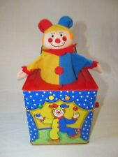 Vintage Schylling Classic Clown Jack-In-The-Box Toy Musical Toy Plush Clown 1997