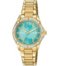 CITIZEN ECO DRIVE CRYSTAL BLUE CHRONOGRAPH WOMEN'S WATCH FD3002-51X