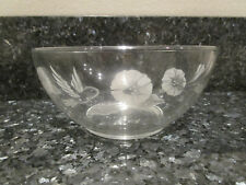 "24%Lead Crystal Avon Hummingbird Serving Bowl Vegetable Bowls 8"""