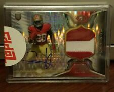 2014 Topps Platinum CARLOS HYDE Pulsar Refractor Rookie Patch Auto #41/50 49ers