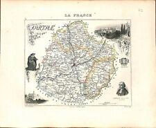 72. SARTHE DENIZOT JURISCONSULTE LE MANS  MAP ATLAS 1851