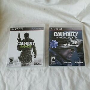 Call of Duty ps3 games Lot of 2  Call Duty GHOST and Call OF Duty MW3 EUC