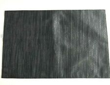 Halloween Placemats Black Metallic Silver Set of 4 Fabric Satin Classic Striped