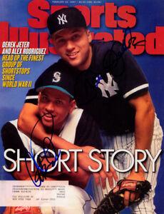 Alex Rodriguez Derek Jeter SIGNED Sports Illustrated