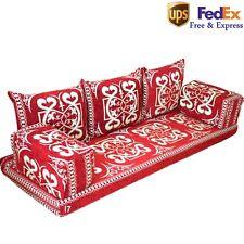 Arabic Seating Home Decor Floor Seat Sofa Oriental Jalsa Sofa Set Kilim Red FOAM