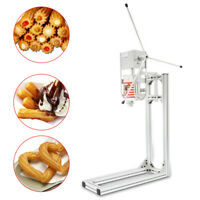 3L Manual Vertical Commercial Spanish Churros Machine Churro Maker w/ Nozzles