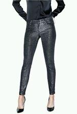 Guess Jeans Women's Power Skinny Black Mysteek Wash Glitter Mid Rise 32 NWT $128