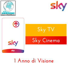 Tessera Prepagata SKY con Pack SKY TV e Cinema durata 1 anno NO HD