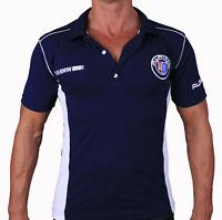 BMW ALPINA T-shirt Polo de sport T-shirt brodé LOGO Fan Homme bleue Coton Auto