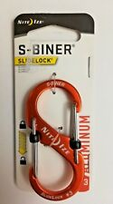 Nite Ize Durable S-Biner Carabiners #3 Aluminum w/ Side Lock Orange 2 Gate Nip