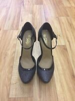 Sparkly Strap Shoes New Size 5