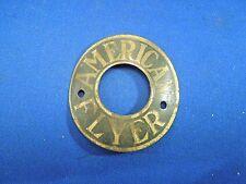 Vintage American Flyer Bicycle Head Badge Emblem Circle Badge Brass Tone