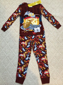 Disney PJ Pal Long Sleeve/Long Pants RATATOUILLE REMY & EMILE Sz 4 NWT