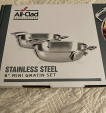 """All-Clad -  Stainless Steel 6"""" MINI GRATIN SET - Brand New in Box"""